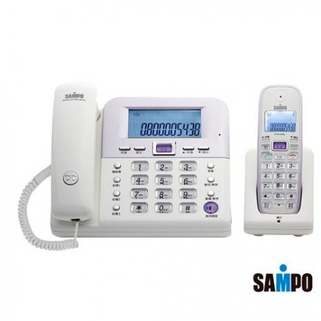 SAMP聲寶 2.4Ghz高頻數位無線電話 CT-W1103NL(白)
