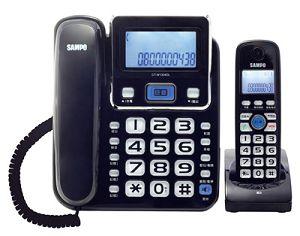 SAMPO聲寶 2.4GHz高頻數位無線電話 CT-W1304DL(黑)