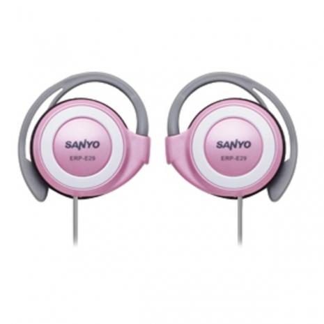 SANYO 三洋 立體聲耳掛式耳機 ERP-E29(粉紅)