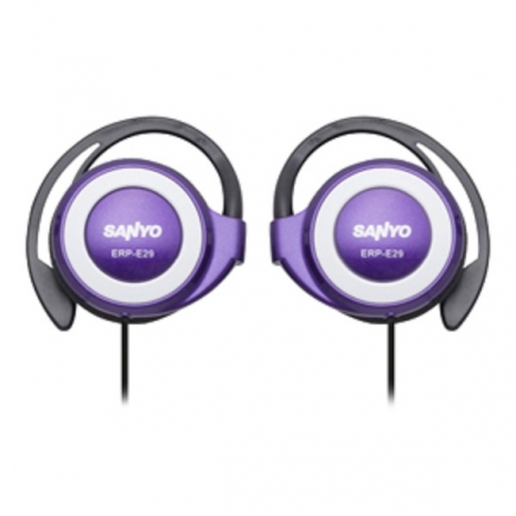 SANYO 三洋 立體聲耳掛式耳機 ERP-E29(紫)