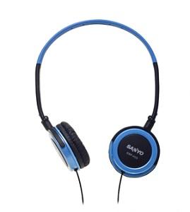 SANYO三洋 立體聲頭戴式折疊耳機ERP-H28(藍色)