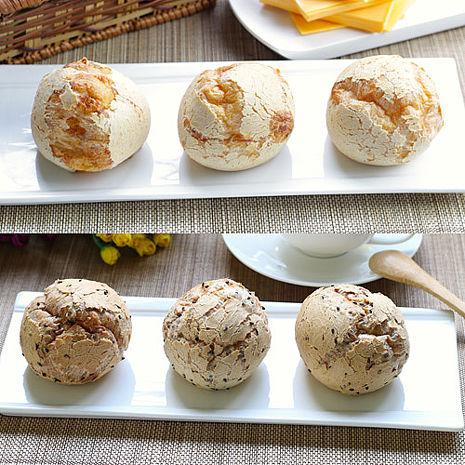 【彰化美食村】韓國麵包球-原味+起司各1盒(共16入)