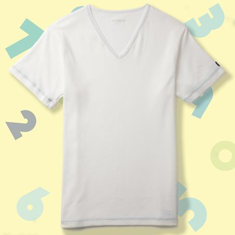 【MORINO摩力諾】兒童抗菌防臭速乾短袖V領衫-白色M