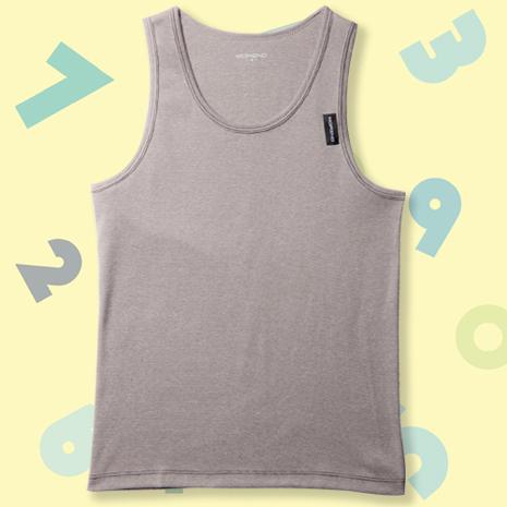 【MORINO摩力諾】兒童抗菌防臭速乾背心-灰色XL