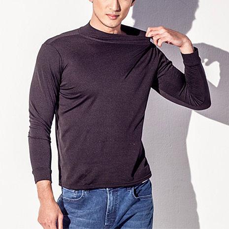 【TELITA】【抗寒保暖】長袖刷毛保暖衫(男)-黑色M