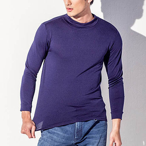 【TELITA】【抗寒保暖】長袖刷毛保暖衫(男)-藍色M