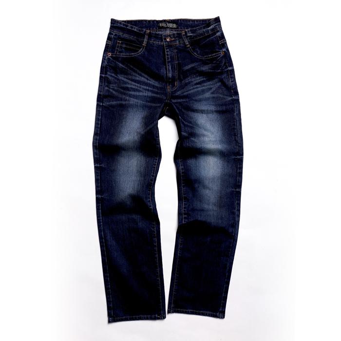 FATAN 特色凸繡中直筒牛仔褲M
