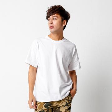 FATAN 台灣製純棉素T-白色4L白