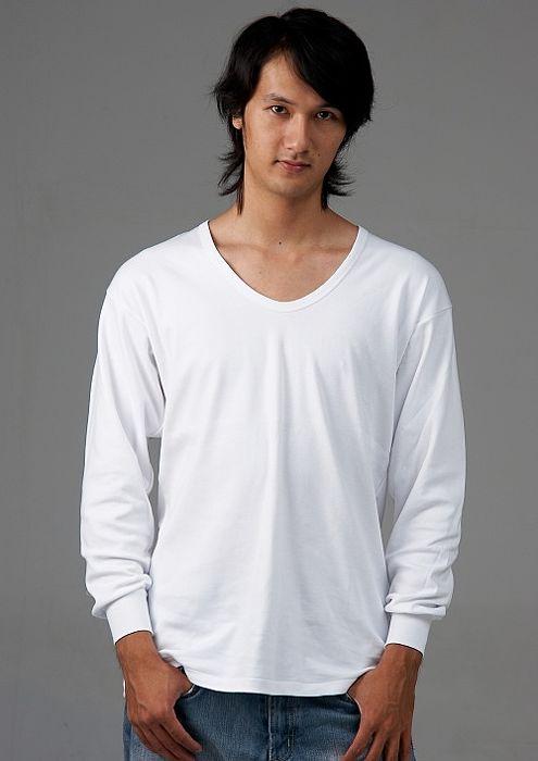 【三福】純棉V領羅紋長袖內衣(二件組) S-XLM