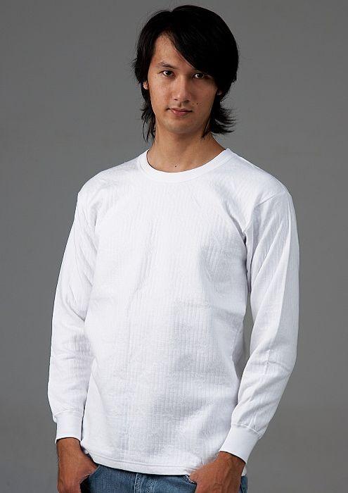 【三福】精梳棉鋪棉圓領長袖內衣(二件組) S-LS