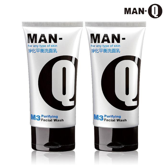 【MAN-Q】M3淨化平衡洗面乳100mlX2