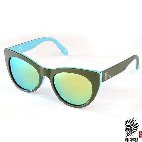 【ONIARAI鬼洗】反光太陽眼鏡-墨綠色004-C2