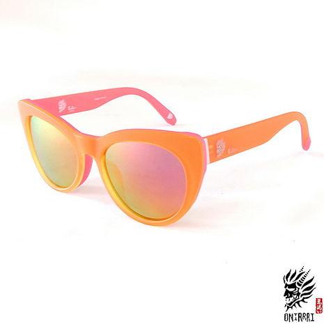 【ONIARAI鬼洗】反光太陽眼鏡-橘紅色004-C3
