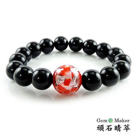 【GemMaker頑石睛萃】黑瑪瑙琉璃10mm手珠