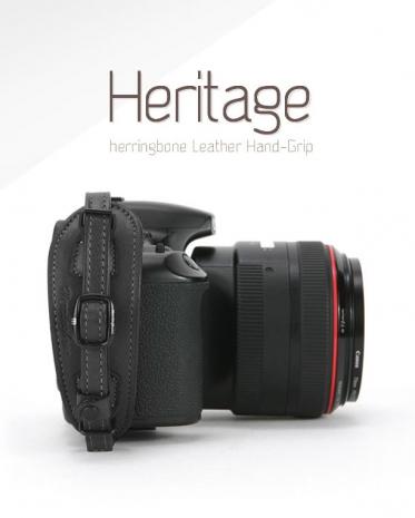 HERRINGBONE 高級真皮DSLR手腕帶-限定款[黑色/H10410]內含專業快拆板