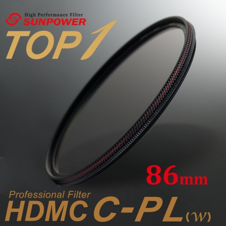 SUNPOWER TOP1 HDMC C-PL Filter 環型偏光鏡 86mm口徑