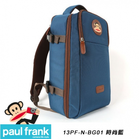 Paul Frank 大嘴猴時尚相機包/休旅型後背包[時尚藍/PF13PF-N-BG01-B]