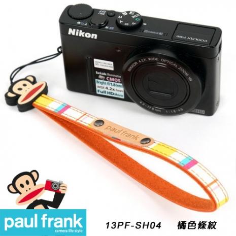 Paul Frank類單及小型數位相機細版手腕帶系列-小DC窄版手腕帶[PF13PF-SH04/橘色條紋]