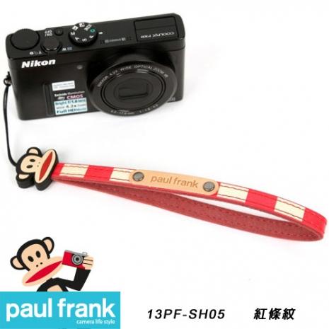 Paul Frank類單及小型數位相機細版手腕帶系列-小DC窄版手腕帶[PF13PF-SH05/紅色條紋]