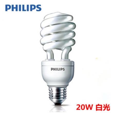 【飛利浦 PHILIPS】HELIX 20W 省電燈泡 白光 E27(6入組)(app)