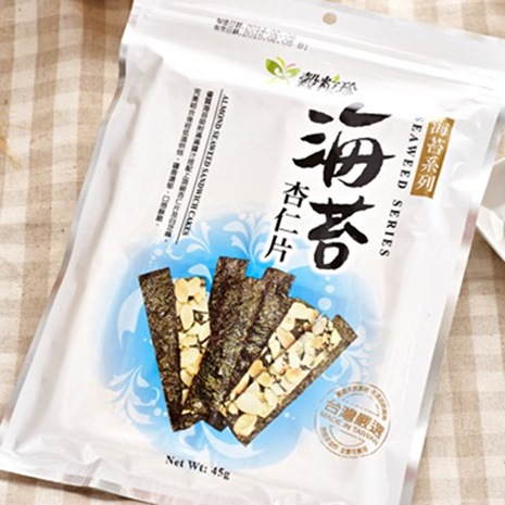 《穀粒珍》海苔杏仁片 (45g/包)-a預購七日