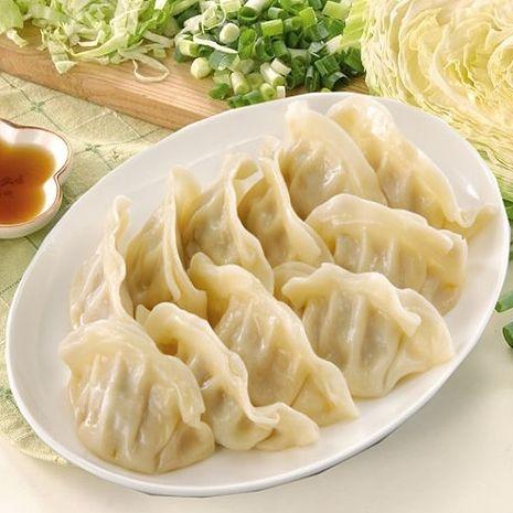 《禎祥食品》高麗菜熟水餃(約100粒,1700g/包,共兩包)-預購