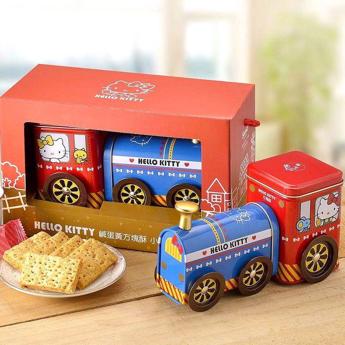 2018春節預購《Hello Kitty》鹹蛋黃方塊酥小火車禮盒(提盒)1/25-2/2出貨