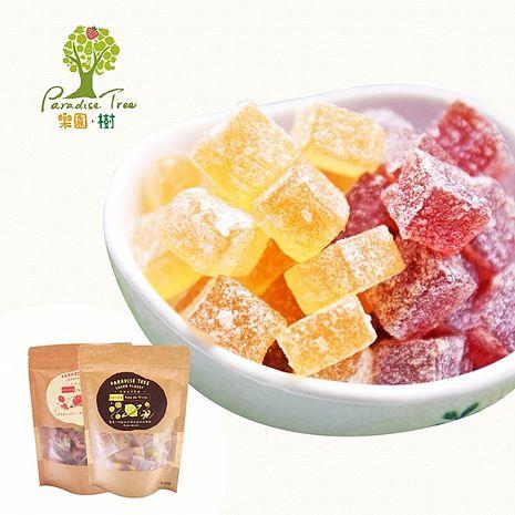即期品-《樂園.樹》法式檸檬軟糖+草莓軟糖(90g/包,共2包)【限時加贈軟糖2包口味隨機】預購4日