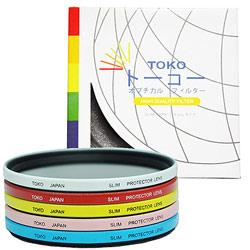 TOKO超薄抗UV彩色保護濾鏡/40.5mm-粉