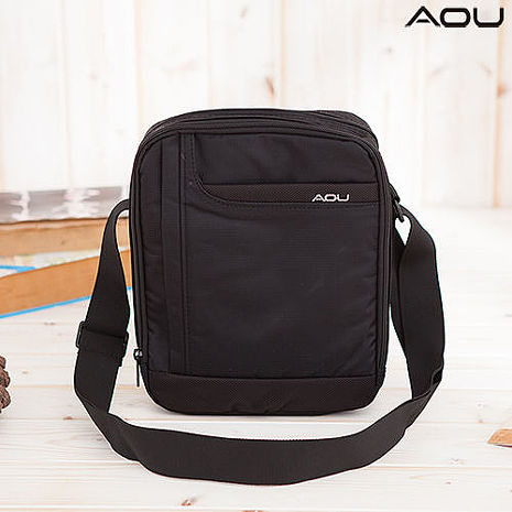 【AOU微笑旅行】台灣製造 直式斜背包 側背包YKK拉鍊(城市遊俠系列105-001)