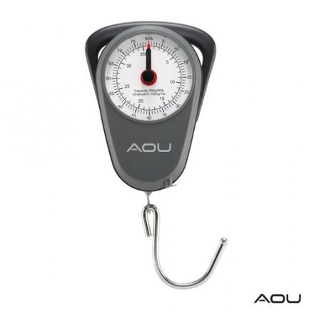 【AOU微笑旅行】行李秤 機械式行李秤 免電池可托運(灰色107-022)