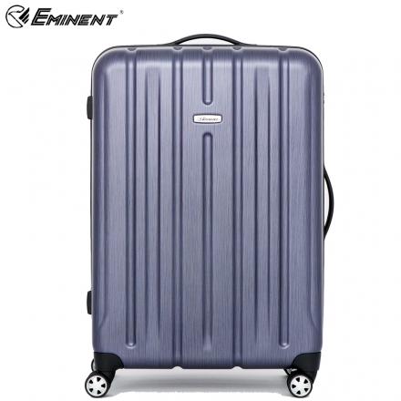 【eminent 萬國通路】23吋 輕量PC旅行箱 拉絲金屬風行李箱(藍色拉絲KF21)