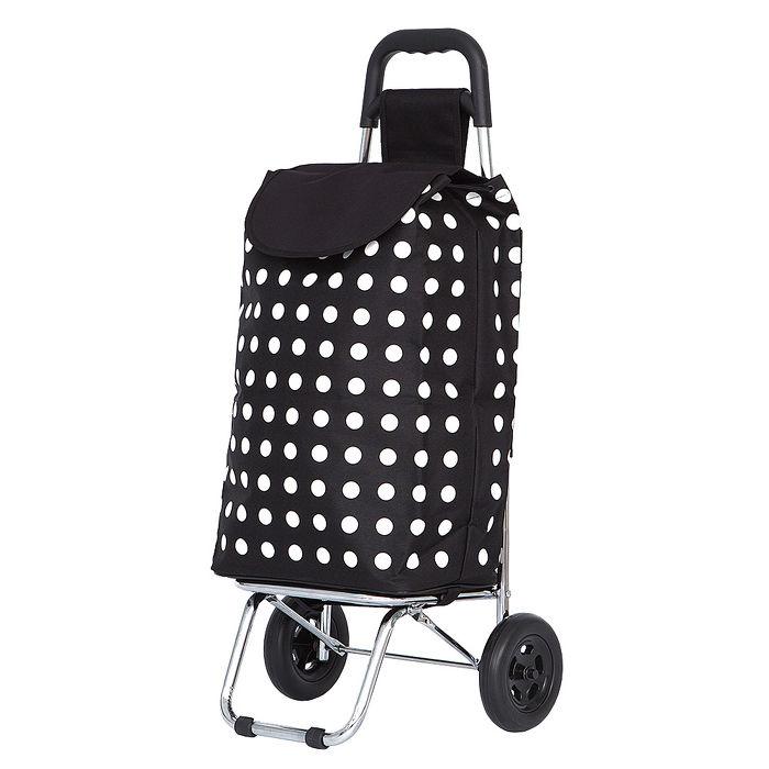 【ABS愛貝斯】WEEY系列 輕巧靜音輪 購物車 菜籃車 載運車二色可選29-016紅點