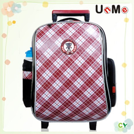 【勤澤軒】UnMe格菱高年級拉桿後背兩用書包(紅格色)