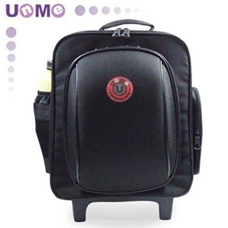 【勤澤軒】UnMe多功能拉桿後背兩用書包(黑色)
