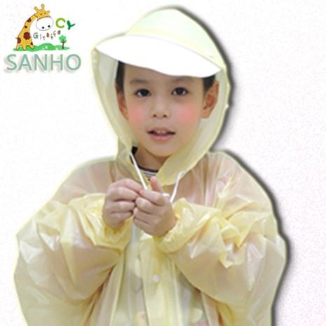 【SANHO】兒童可愛造型風雨衣/ 黃色 (XS_110~119cm)