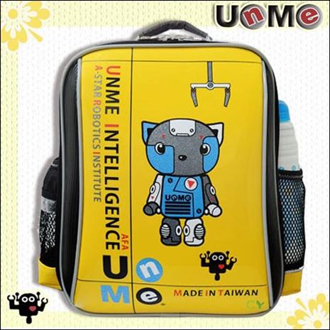 【勤澤軒】UnMe機器人華麗單層後背書包/亮黃色