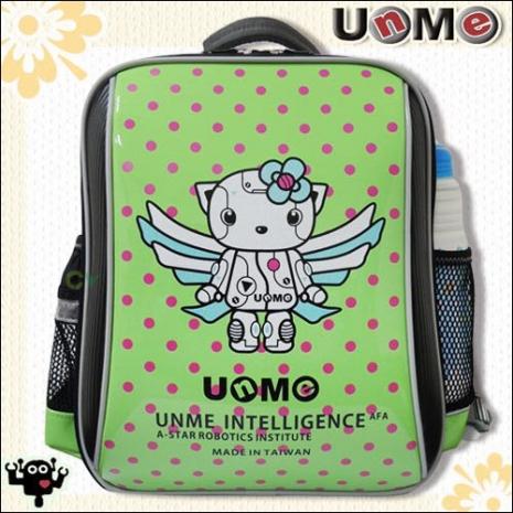 【勤澤軒】UnMe機器人點點單層後背書包(草地綠)