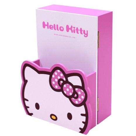 任選-【Hello Kitty-生活系列】造型信箱鑰匙箱