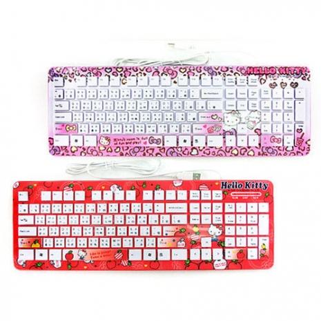 任選-【Hello Kitty-生活系列】精巧靈動 巧克力鍵盤 Windows版 (共兩款)蘋果紅