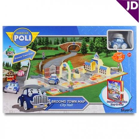 【POLI 變形車系列】城市場景遊戲書-市政廳 RB83279
