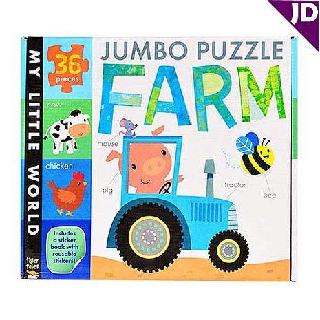 【英國Caterpillar原文童書】我的小世界-地板拼圖書-農場 Jumbo Puzzle-Farm