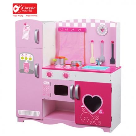 【德國 classic world】客來喜木頭玩具 豪華廚房組 CL4119