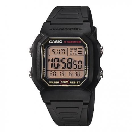 CASIO酷黑戰士運動電子錶(黃面)