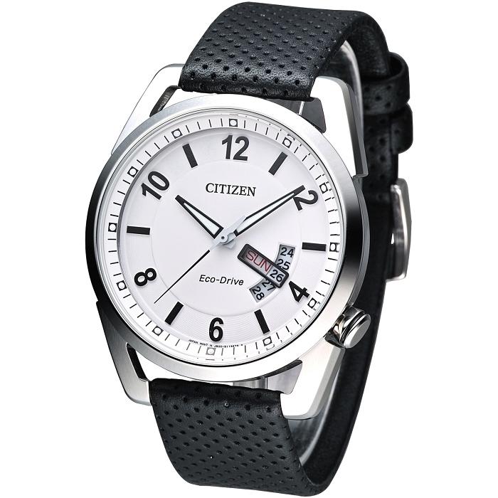 CITIZEN Eco-Drive 暗黑騎士光動能腕錶-白 AW0010-01A