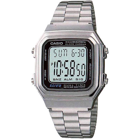 CASIO 復古風潮休閒個性電子錶(A178WA-1A)