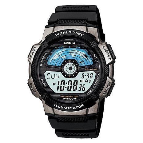 CASIO 閃電世界戰士運動電子錶-銀灰框(AE-1100W-1A)-服飾‧鞋包‧內著‧手錶-myfone購物