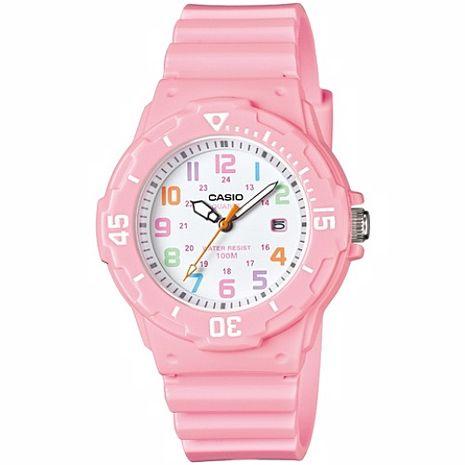 CASIO 魅力潛水風格型女腕錶-粉紅(LRW-200H-4B2)