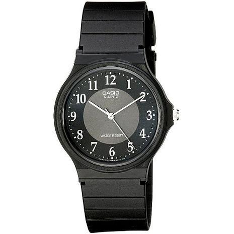CASIO 都會品味業務男錶-黑X白刻(MQ-24-1B3)
