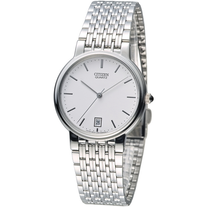 CITIZEN 都會時尚簡約風格男錶-白(BK1930-65A)-服飾‧鞋包‧內著‧手錶-myfone購物